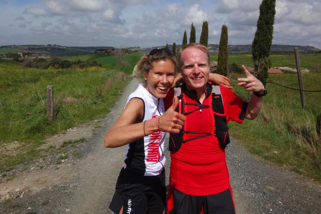 Glücklich im Toskana Laufseminar