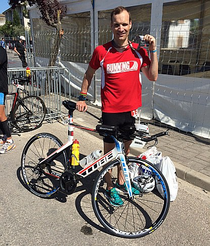 Andreas Bause beim Triathlon