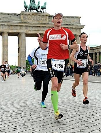 Marek Neumann beim Berlin Marathon
