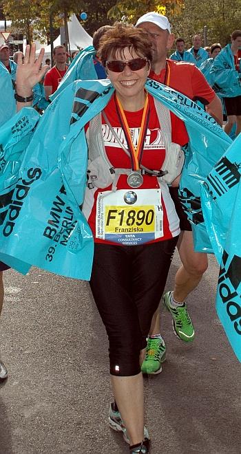 Marathon-Finisherin in Berlin