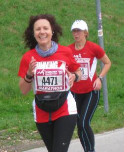 Marathonläuferin beim München Marathon
