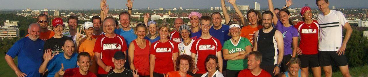 Läufer auf dem Olympiaberg
