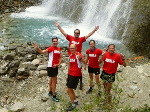 Ausflug zum Wasserfall im Laufwochenende Höhentraining & Wellness in Livigno