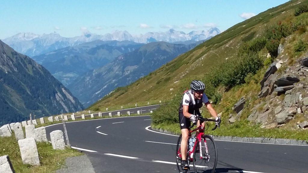 Der erste Anstieg beim Radmarathon Nove Colli
