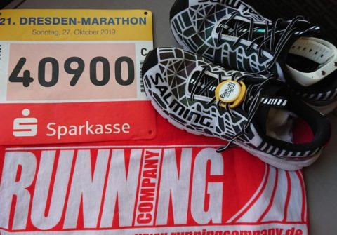 Equipment für den Marathonstart