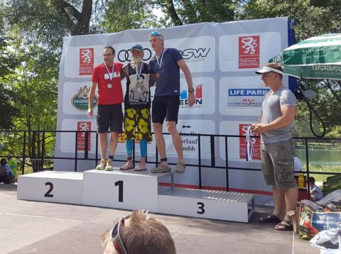 RUNNING Company Andreas Seliger Siegerehrung Triathlon Ingolstadt 2017