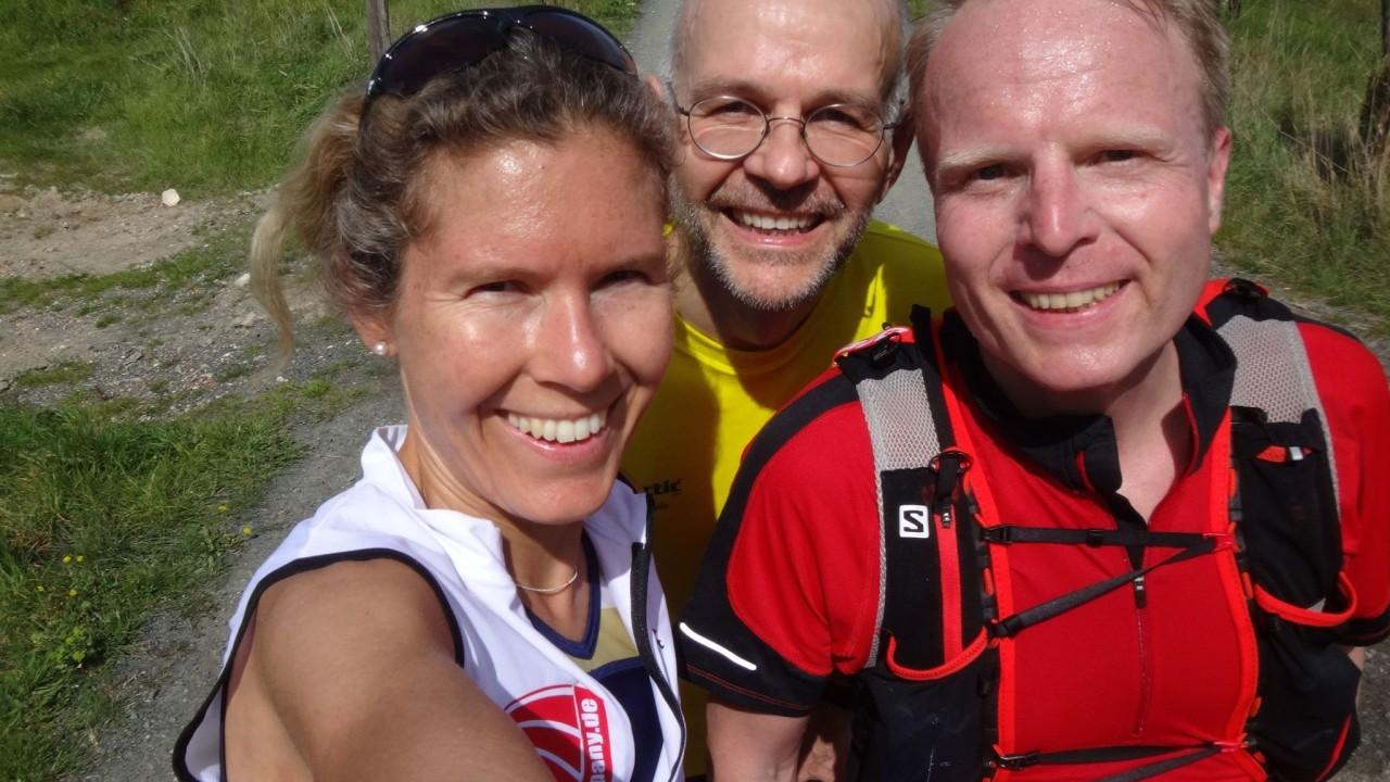 Selfi-Stopp beim Lauftraining in der Toskana