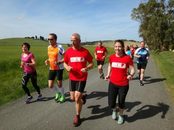 Langer Lauf bei der Toskana Laufreise
