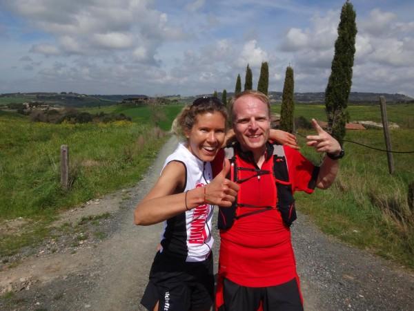Glücklich im Toskana Laufcamp