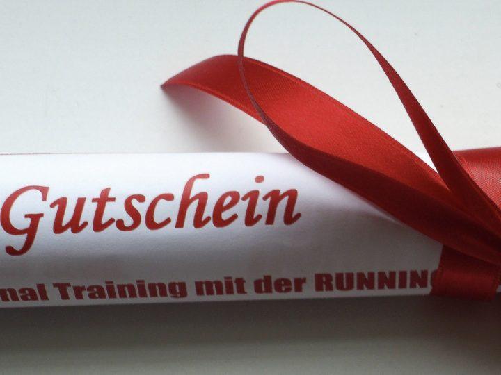 Finde DEIN Geschenk: Der RUNNING Company Gutschein für extraklasse Lauftraining