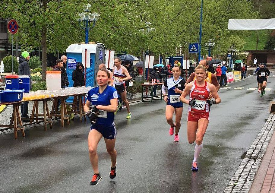 Regina Högl bei den Deutschen Halbmarathon Meisterschaften