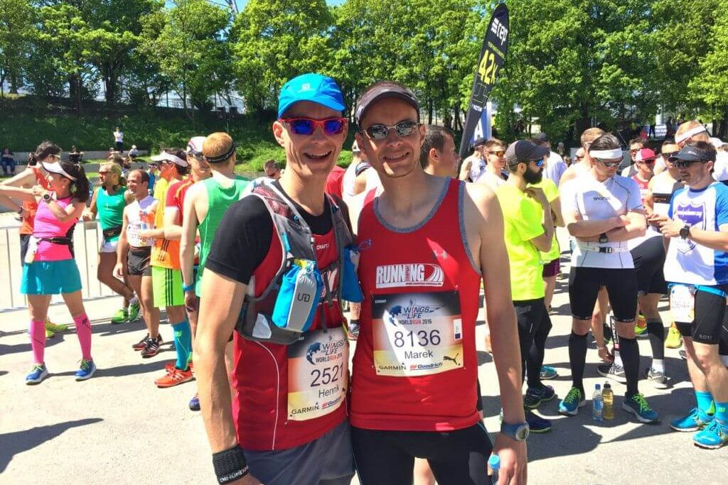 Die Running Twins beim Wings for Life World Run in München 2016