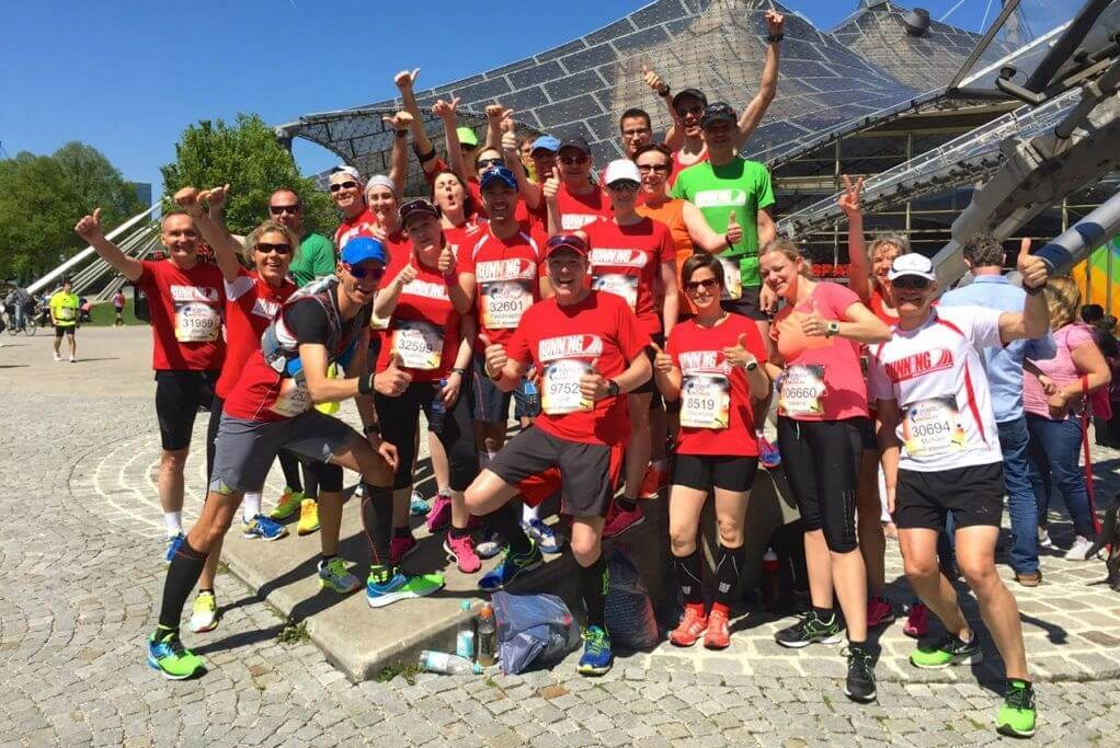 Das RUNNING Company Team beim Wings for Life World Run in München 2016