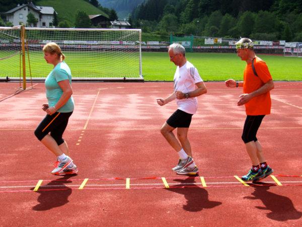Lauftechnik-Training bei der Seiser Alm Laufwoche