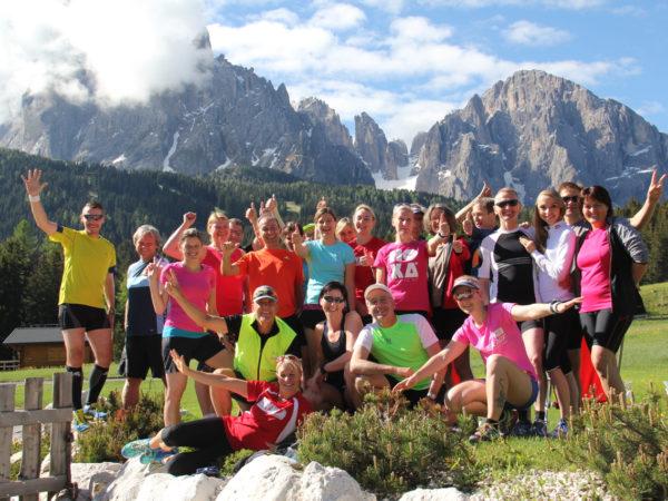 Traumhaftes Bergpanorama im Seiser Alm Laufseminar in Südtirol