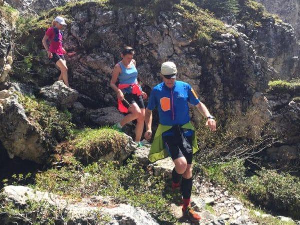 Bergab Trailrun auf der Seiser Alm