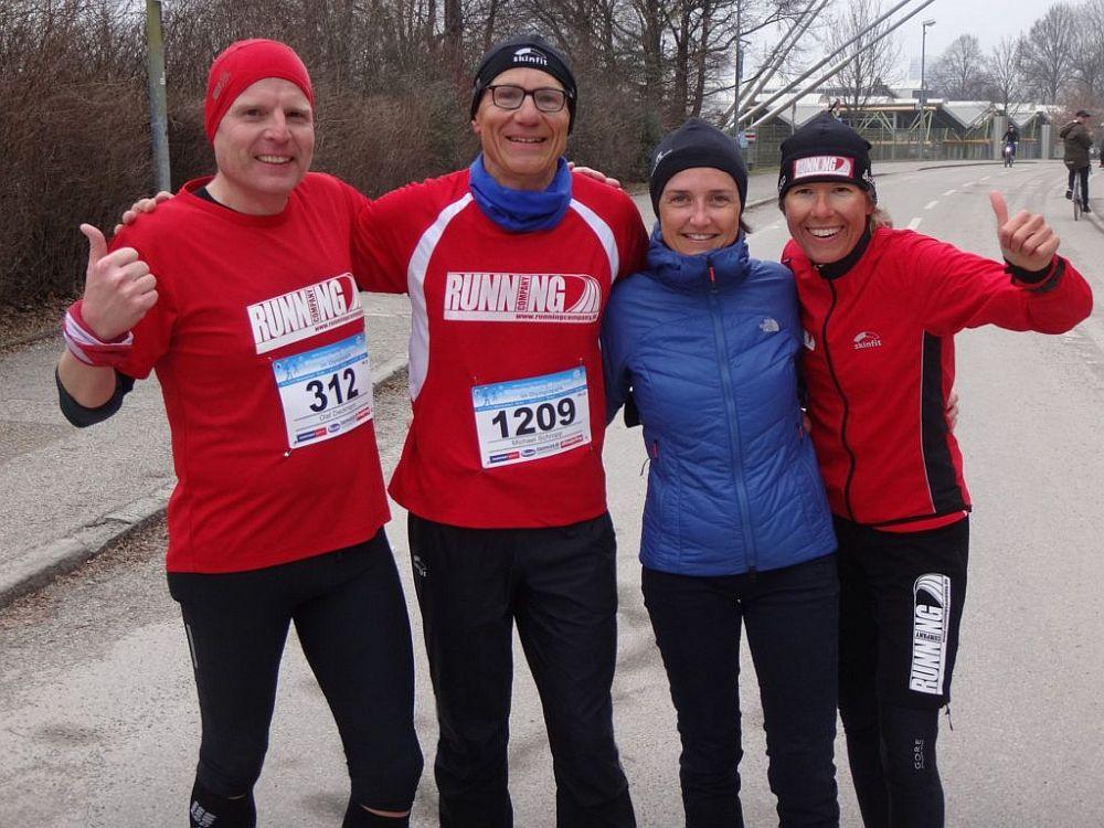 Happy Runners im Winter