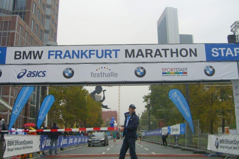 Startlinie beim Frankfurt Marathon