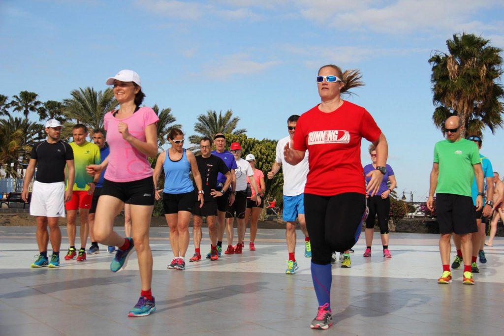 Lauf-ABC unter Palmen auf Lanzarote