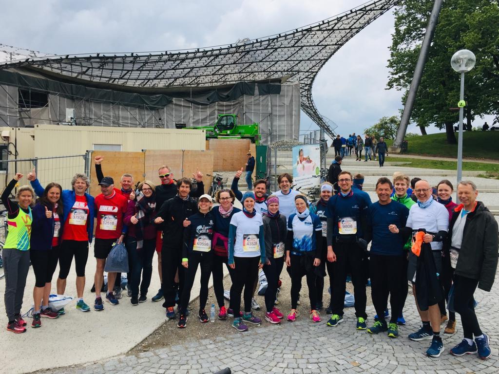 RUNNING Company Crew im Olympiapark beim Wings for Life World Run 2019
