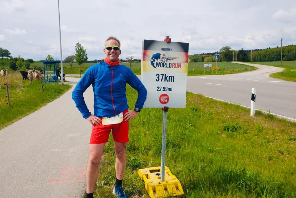 Andreas van Cuyck beim beim Wings for Life World Run 2019 in München bei KM 37