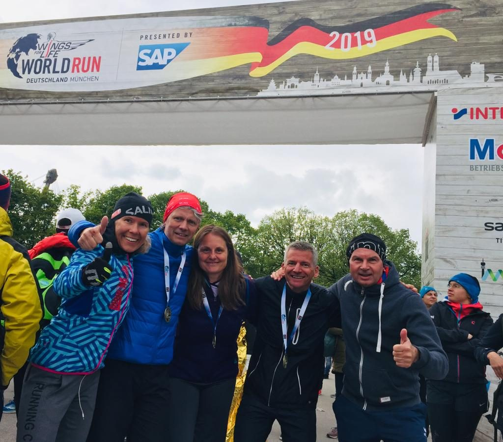 Finish beim Wings for Life World Run in München 2019