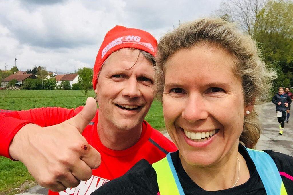 André Neudeck und Bianca Meyer beim Wings for Life World Run 2019 in München