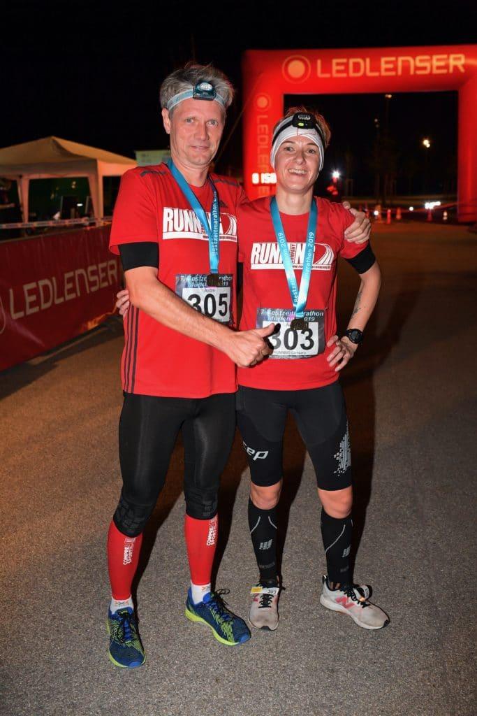Laufglück nach dem Nacht-Marathon