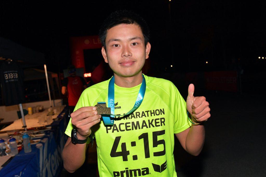 Pacemaker beim Bestzeitmarathon - Martin Zhang