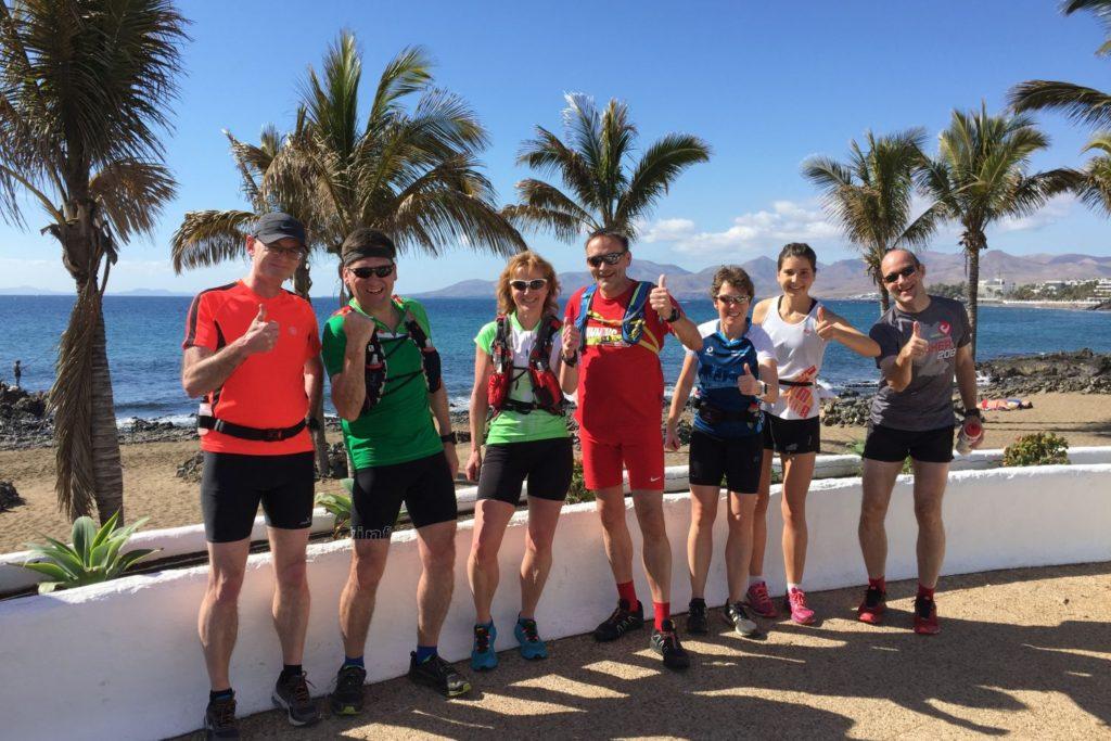 Sonne und Palmen bei der Lanzarote Laufreise