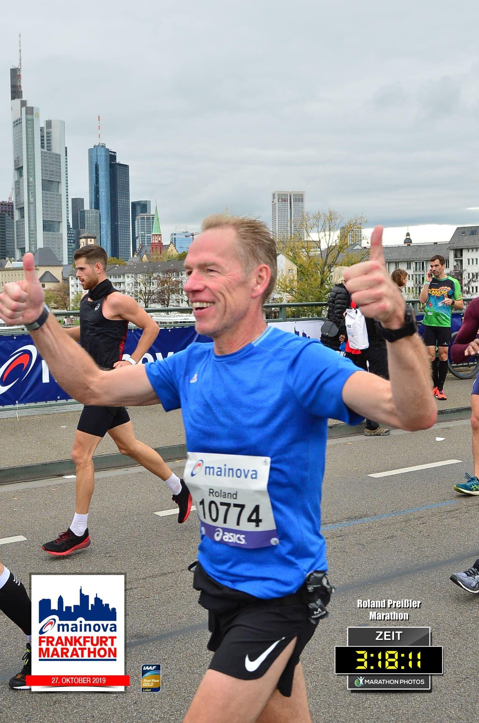 Roland Preissler beim Frankfurt Marathon 2019