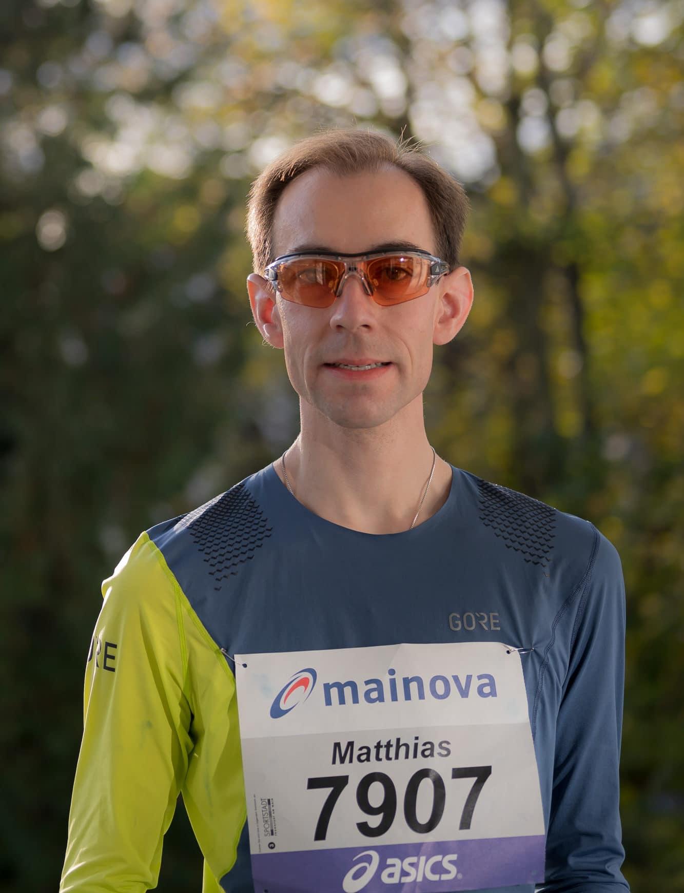 RUNNING Company Läufer Matthias Specht beim Frankfurt Marathon