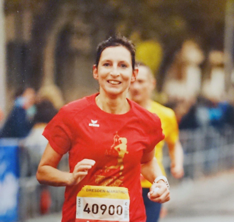Ina Schmidt beim Dresden Marathon
