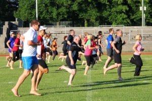 Lauftechnik-Training in der Gruppe