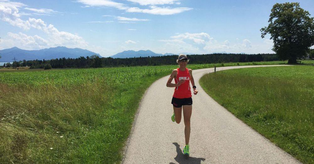 Tolles Berg-Panorama beim Lauftraining im Chiemgau