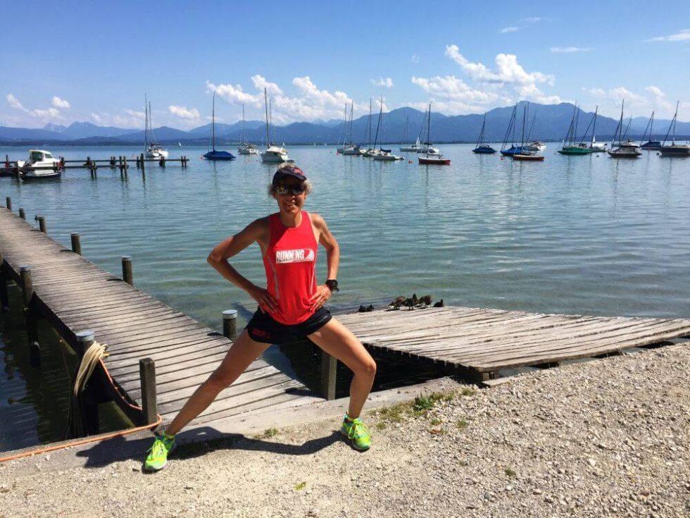 Stretching mit Chiemsee- und Bergpanorama
