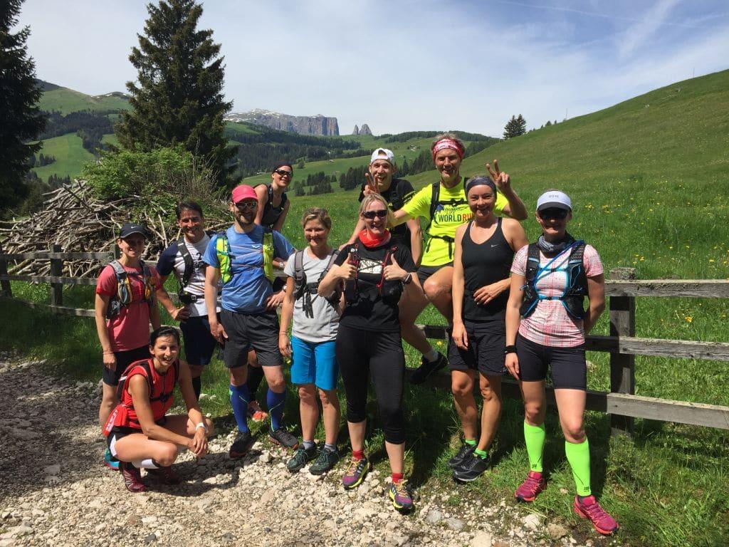 Seiser Alm Panorama bei der RUNNING Company Laufreise