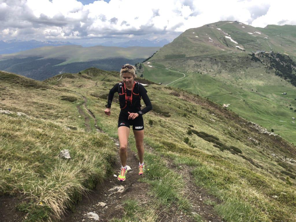 Läuferin Bianca Meyer beim Berglauf