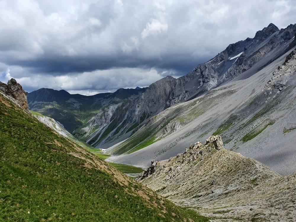 Steile Hänge beim Swissalpine