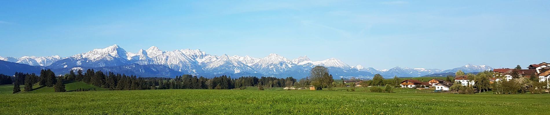 Allgäuer Berge und Wiesn