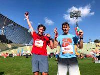 RUNNING Company_Jubel im Ziel beim München Marathon